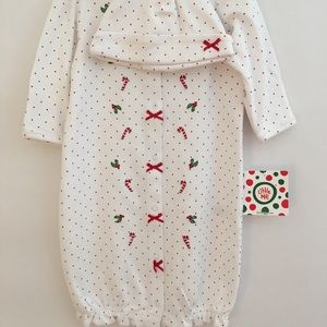 Little Me 2Piece Christmas Sleeper Gown and Hat